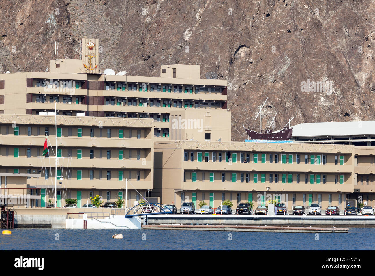 Naval Base in Muscat, Oman - Stock Image