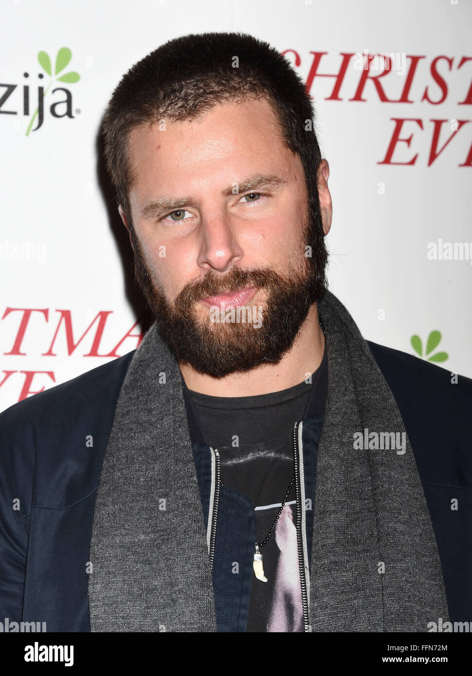 Actor James Roday arrives at the premiere of Unstuck's 'Christmas Eve' at the ArcLight Hollywood on - Stock Image