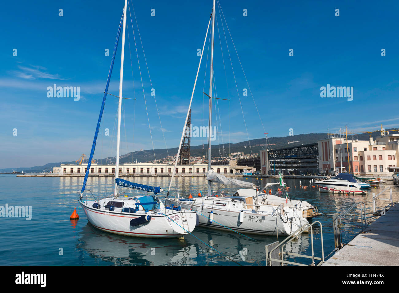 The waterfront, Trieste, Italy, Europe - Stock Image