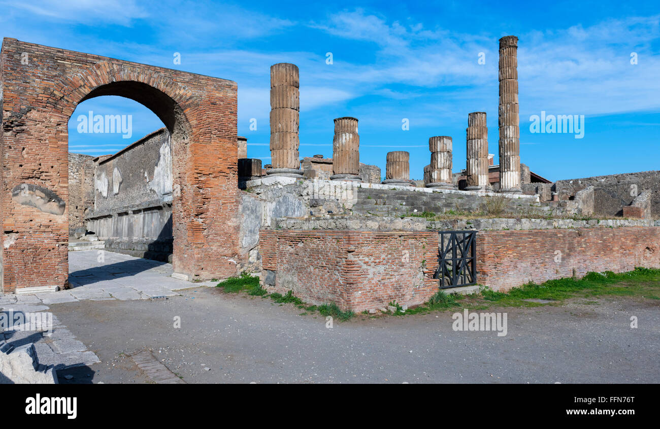 Pompeii Ruins of the ancient Roman city in Italy, Europe - Stock Image