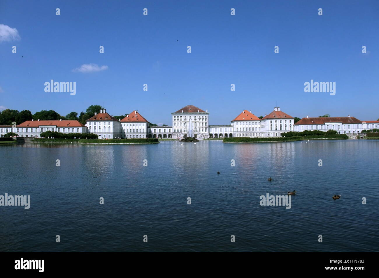geography / travel, Germany, Bavaria, Munich, castles, Nymphenburg Castle, exterior view, Additional-Rights-Clearance Stock Photo