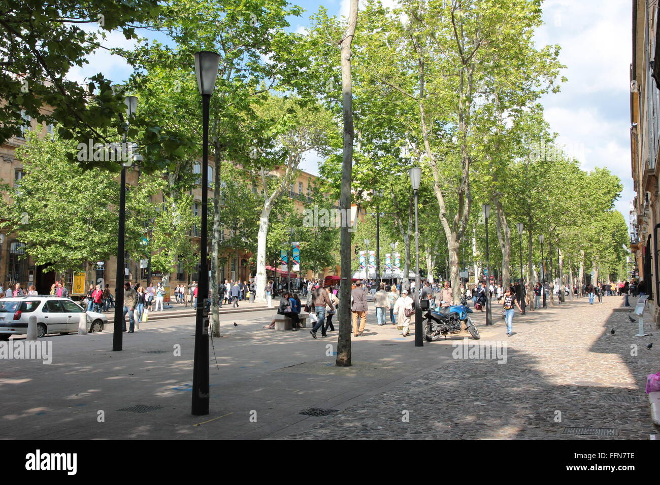 geography / travel, France, Aix-en-Provence,   Cours Mirabeau, , Additional-Rights-Clearance-Info-Not-Available - Stock Image