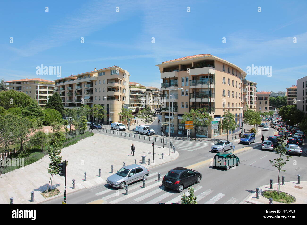 geography / travel, France, Aix-en-Provence, Avenue Max Juvenal, - Stock Image