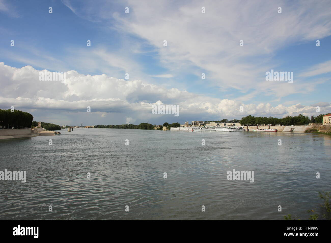 geography / travel, France, Arles, Rhone River, Additional-Rights-Clearance-Info-Not-Available - Stock Image