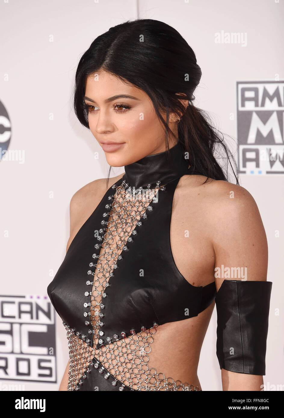 TV personality Kylie Jenner arrives at the 2015 American Music Awards at Microsoft Theater on November 22, 2015 - Stock Image