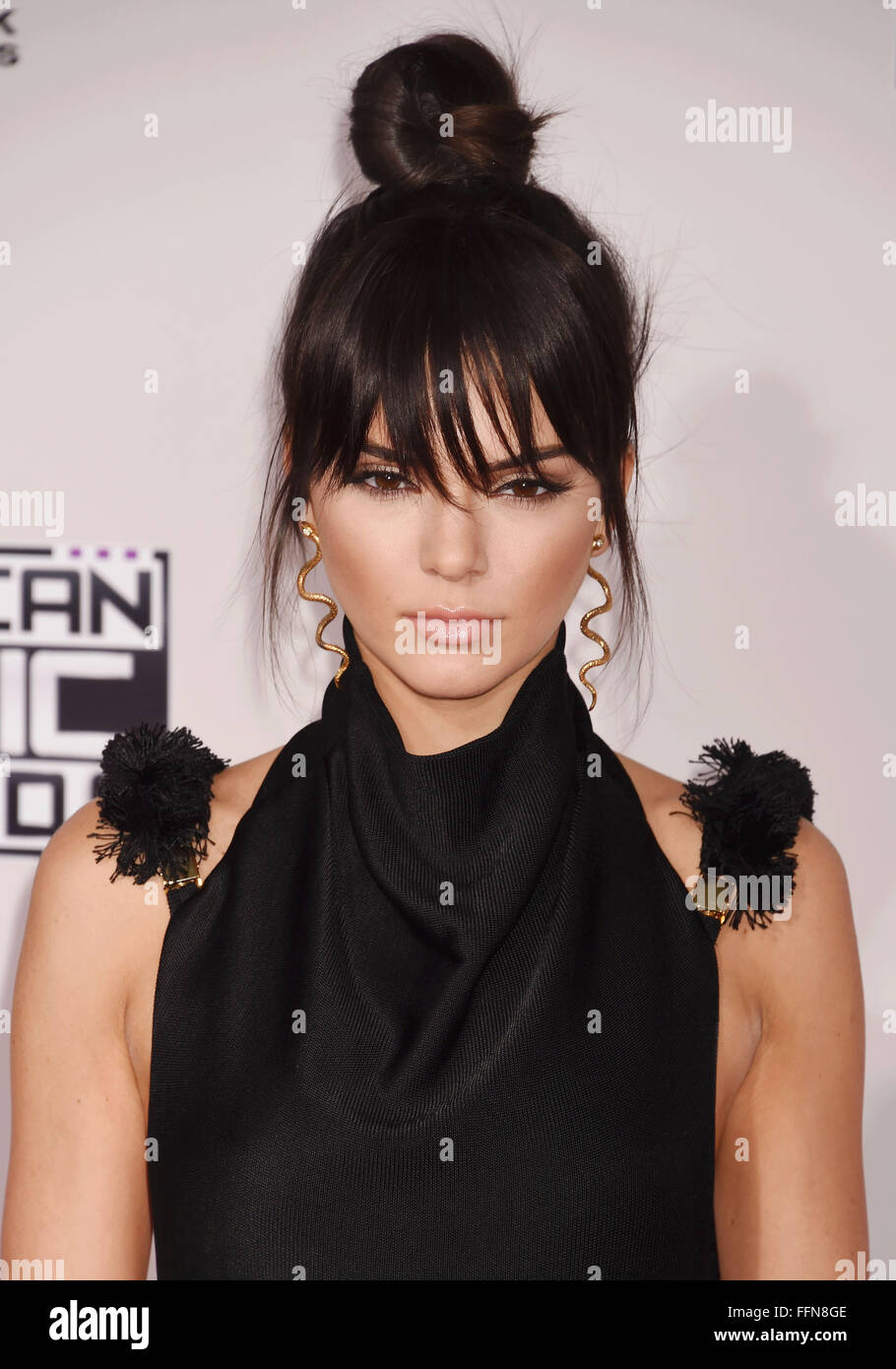 TV personality Kendall Jenner arrives at the 2015 American Music Awards at Microsoft Theater on November 22, 2015 - Stock Image
