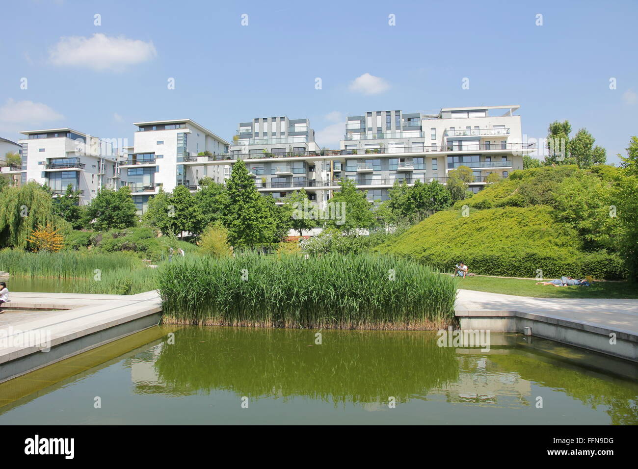 geography / travel, France, Paris, Bercy, Parc de Bercy, Additional-Rights-Clearance-Info-Not-Available - Stock Image