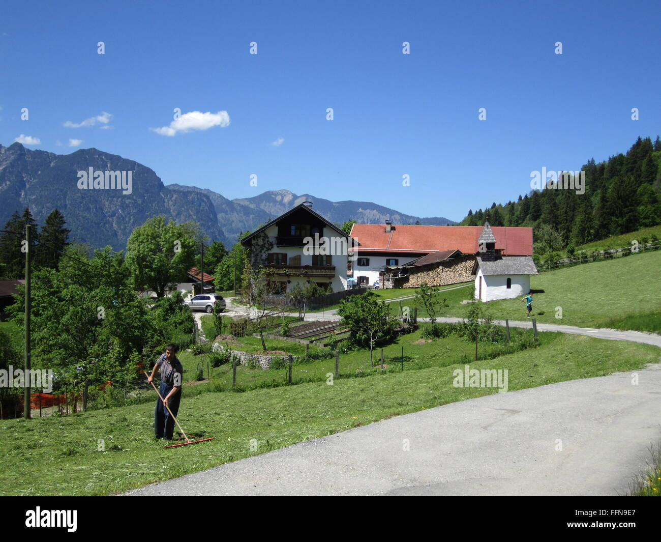 """geography / travel, Germany, Bavaria, landscapes, Rein Valley, alpine dairy """"Hanneslabauer"""", Additional-Rights-Clearance Stock Photo"""
