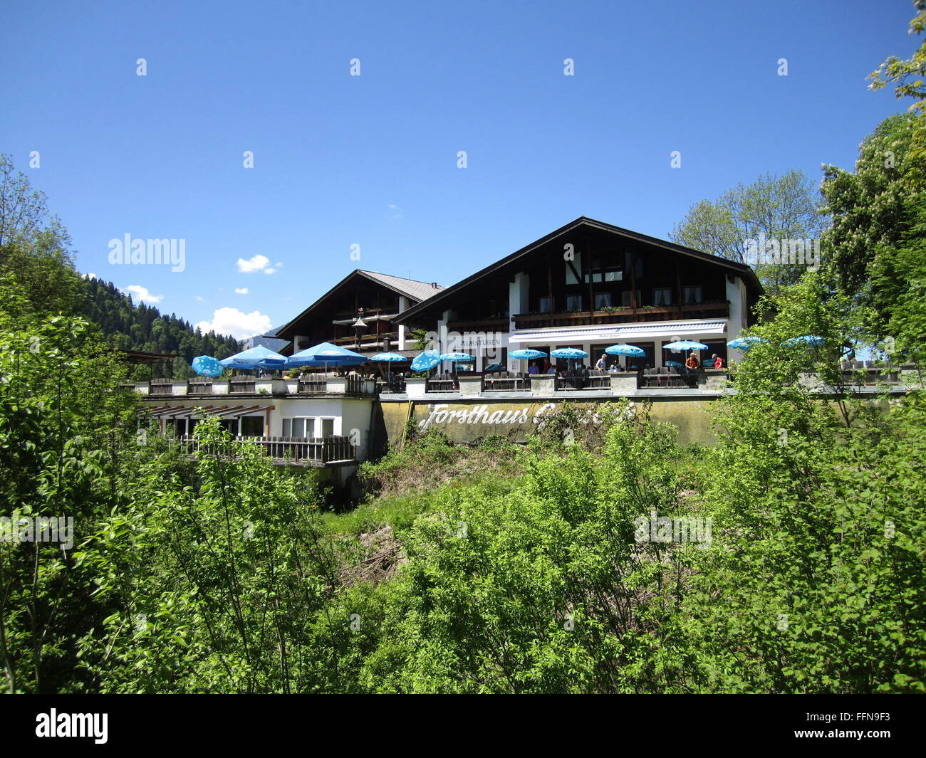 geography / travel, Germany, Bavaria, landscapes, Rein Valley, Forsthaus Graseck, restaurant, Additional-Rights - Stock Image