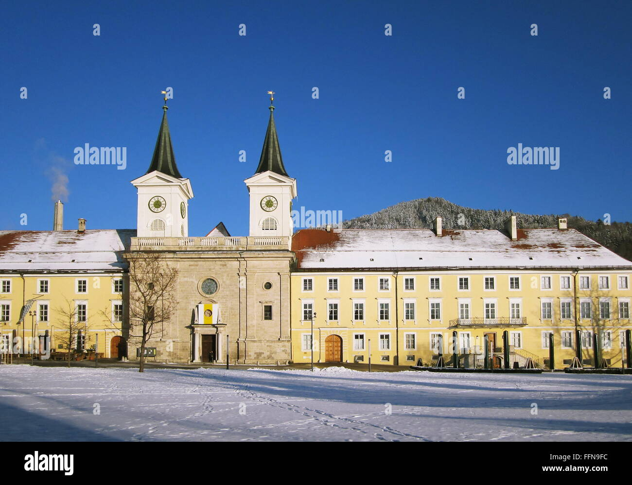 geography / travel, Germany, Bavaria, Tegernsee, former monastery and Wittelsbach castle, exterior view, Additional - Stock Image