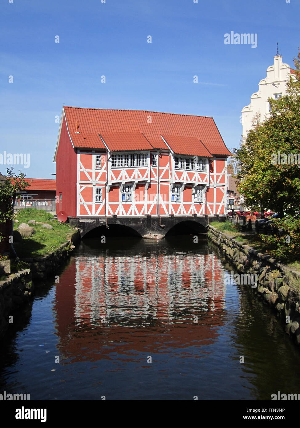 geography / travel, Germany, Mecklenburg-West Pomerania, Wismar, buildings, Grube Bridge, Additional-Rights-Clearance Stock Photo