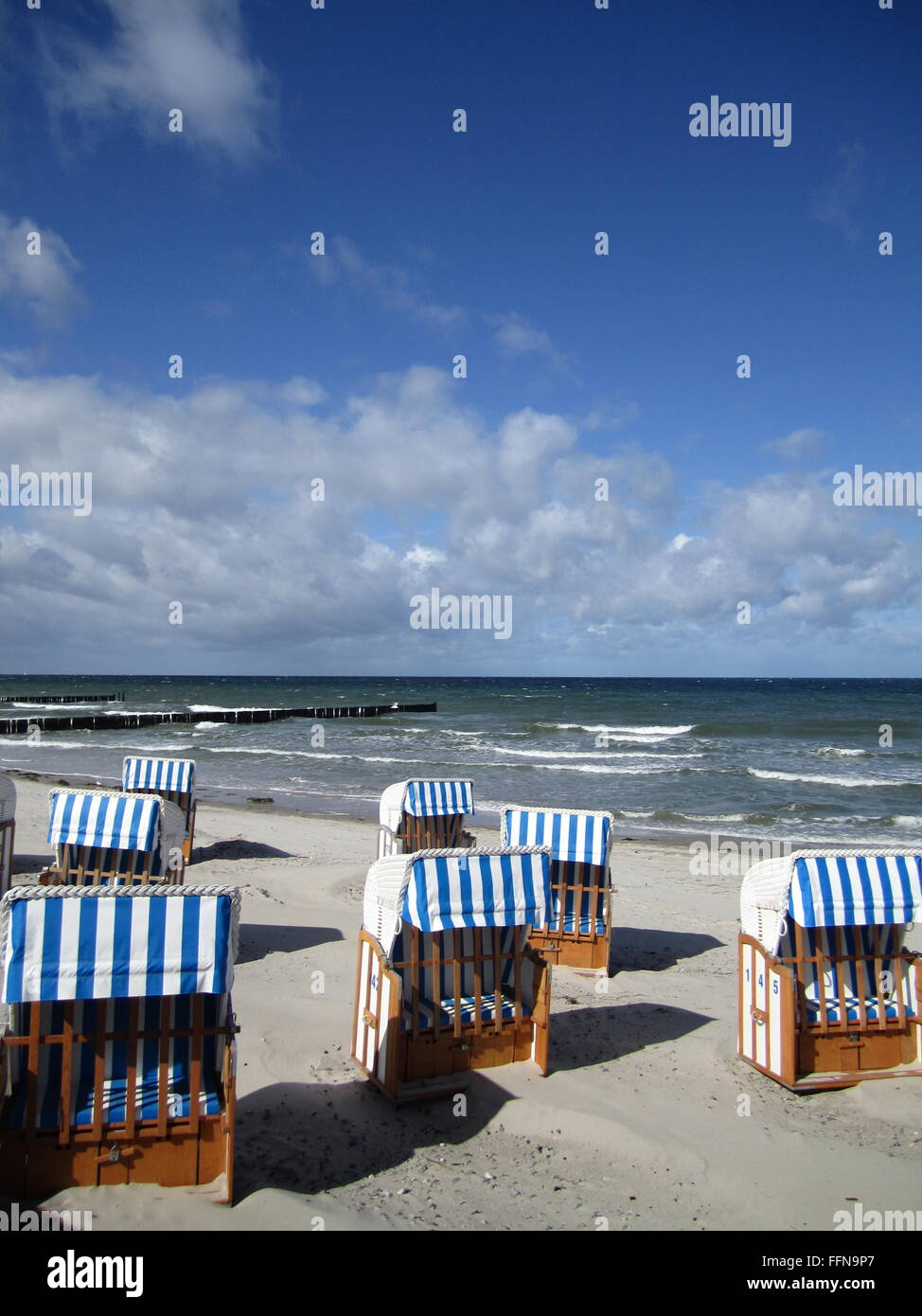 geography / travel, Germany, Mecklenburg-West Pomerania, Nienhagen, beach, Additional-Rights-Clearance-Info-Not - Stock Image
