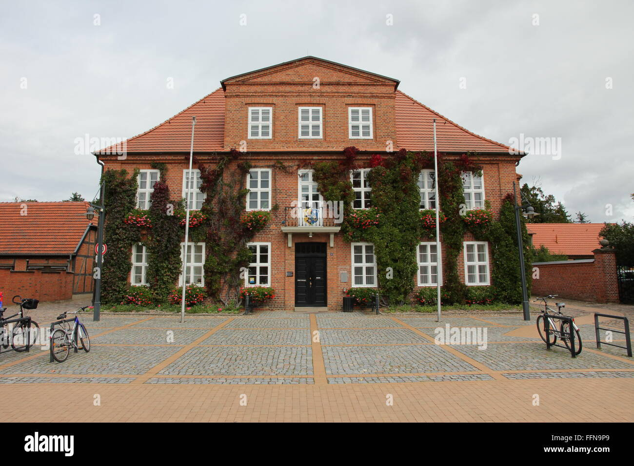 geography / travel, Germany, Mecklenburg-West Pomerania, Ludwigslust, city hall, Additional-Rights-Clearance-Info - Stock Image