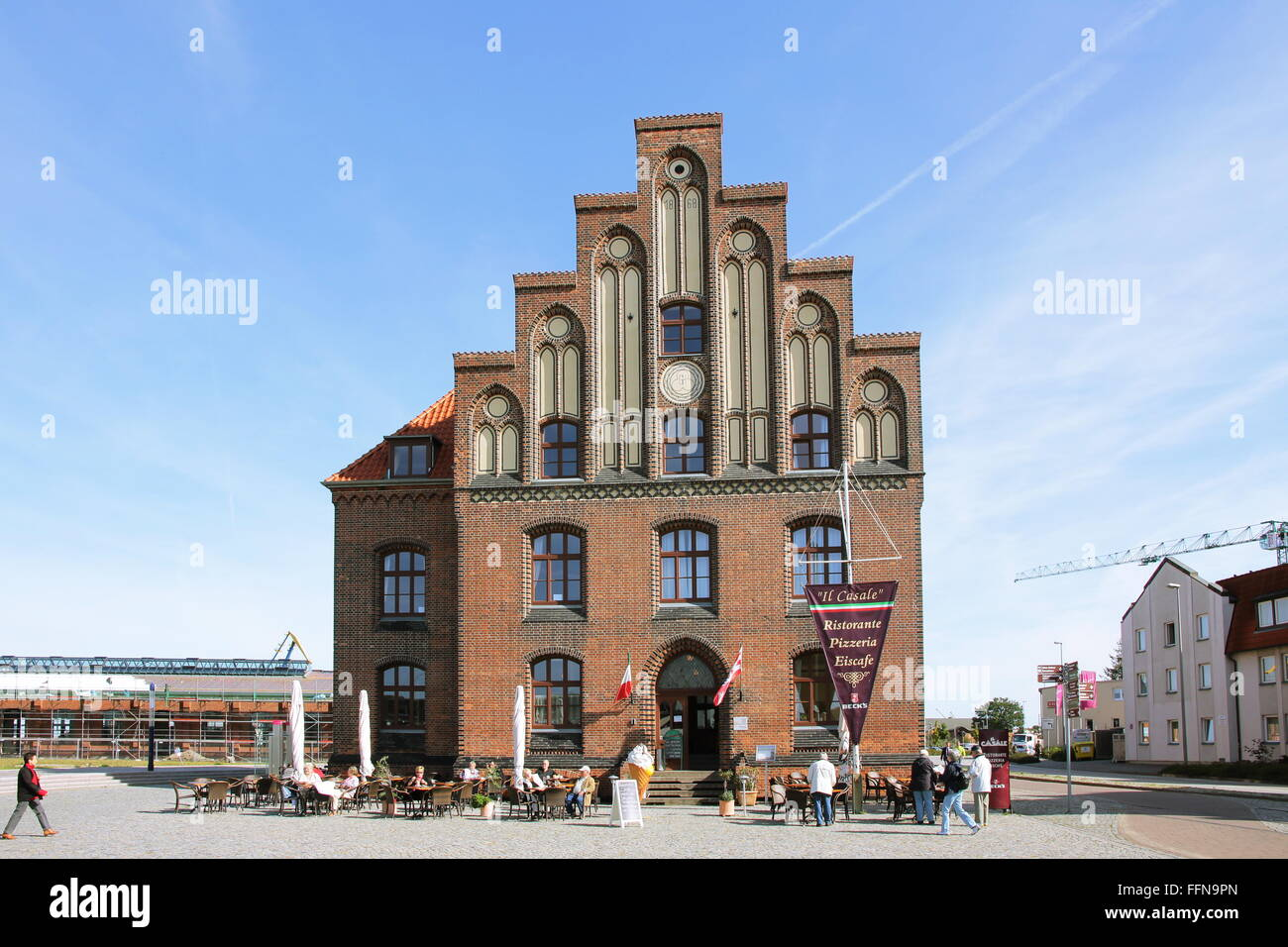 geography / travel, Germany, Mecklenburg-West Pomerania, Wismar, old customs house, Am Hafen, Additional-Rights - Stock Image