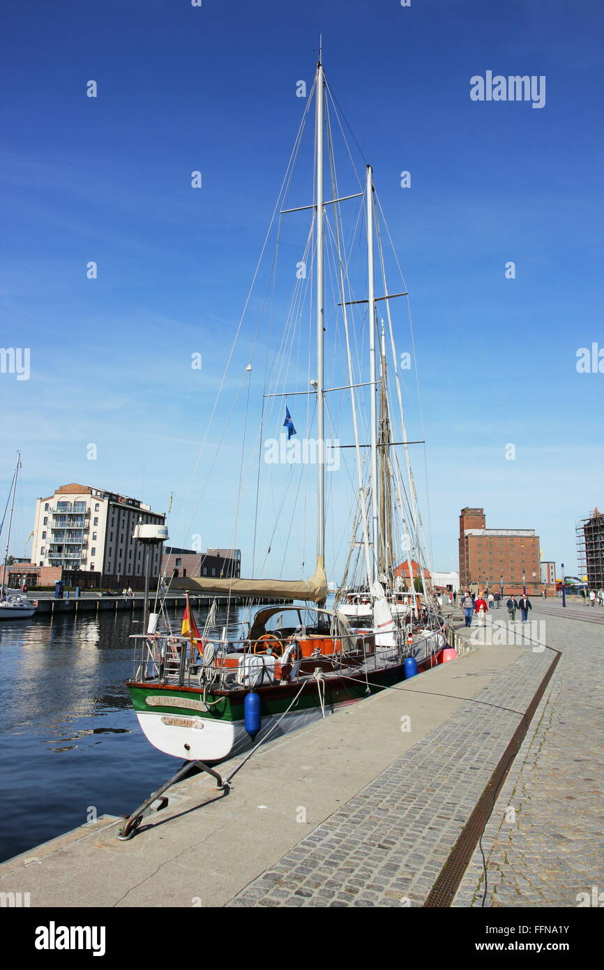 geography / travel, Germany, Mecklenburg-West Pomerania, Wismar, Am Hafen, pier, Additional-Rights-Clearance-Info - Stock Image