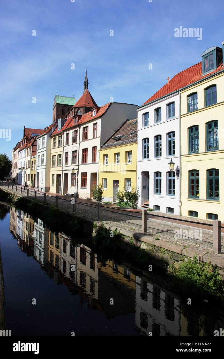 geography / travel, Germany, Mecklenburg-West Pomerania, Wismar, Muehlengrube, Additional-Rights-Clearance-Info - Stock Image
