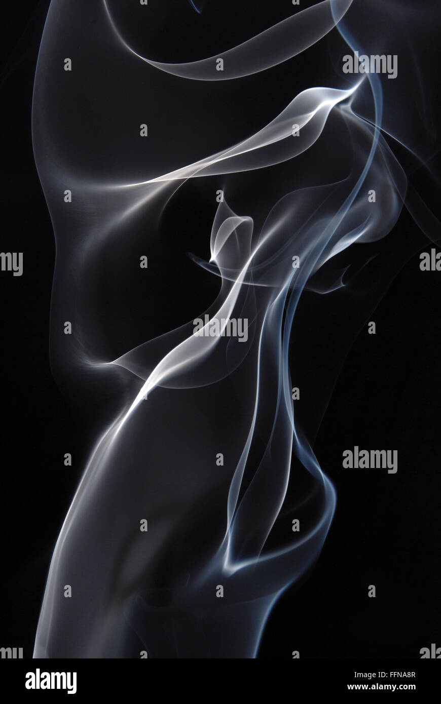 smoke curly lines background - Stock Image