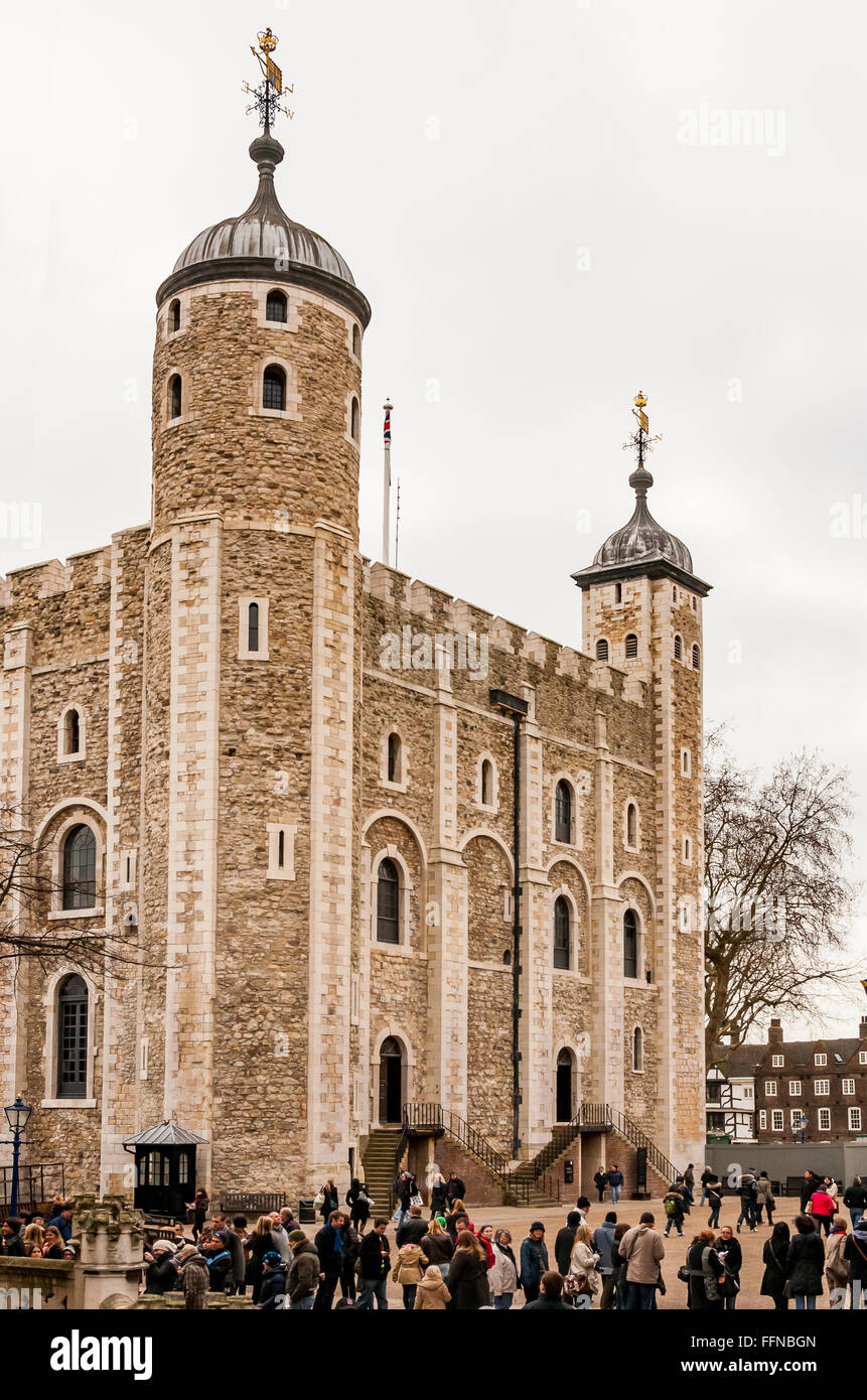 The White Tower of London - Stock Image
