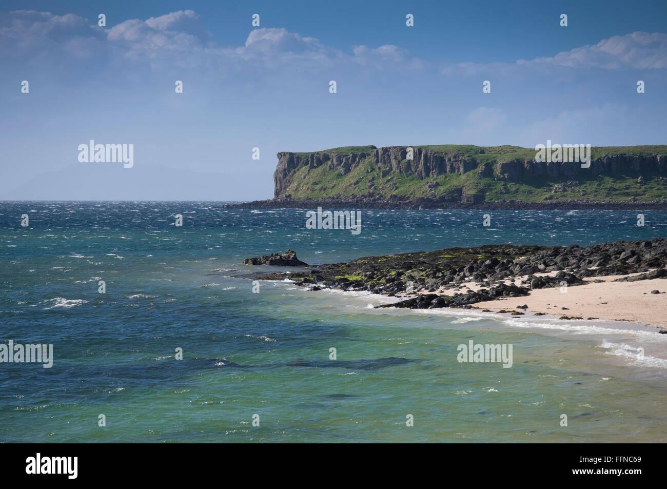 coral beach loch dunvegan with aquamarine sea - Stock Image