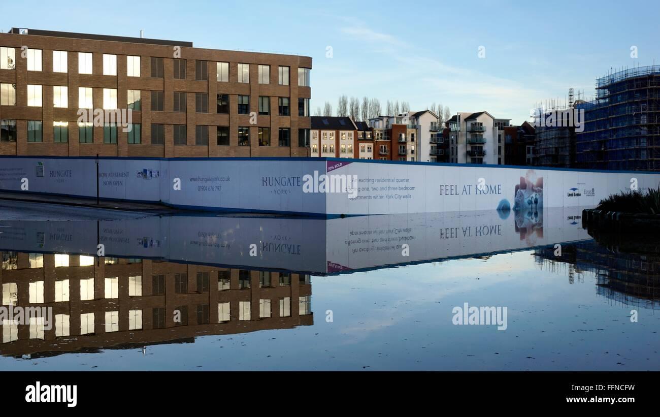 York Floods December 2015 Stock Photo