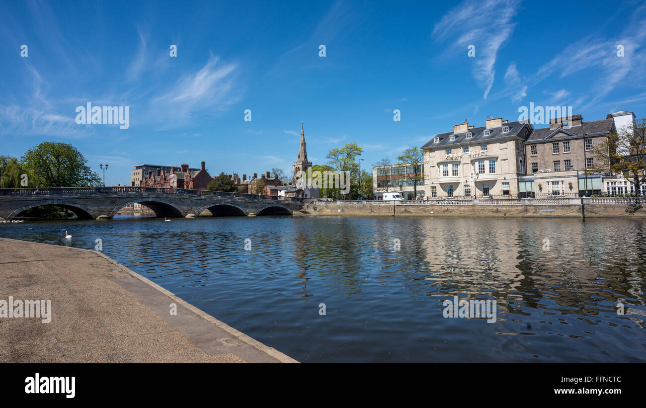The River Greet Ouse in Bedford, Bedfordshire - Stock Image