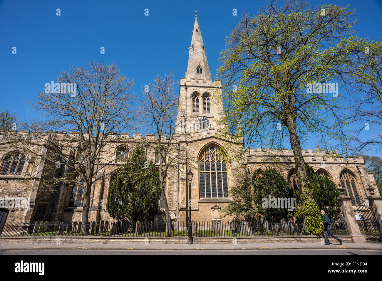 St. Paul's Church, Bedford, Bedfordshire - Stock Image