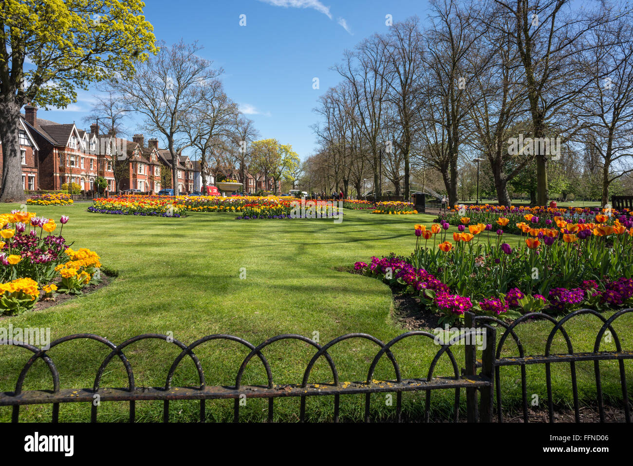 Russell Park gardens, Bedford, Bedfordshire - Stock Image