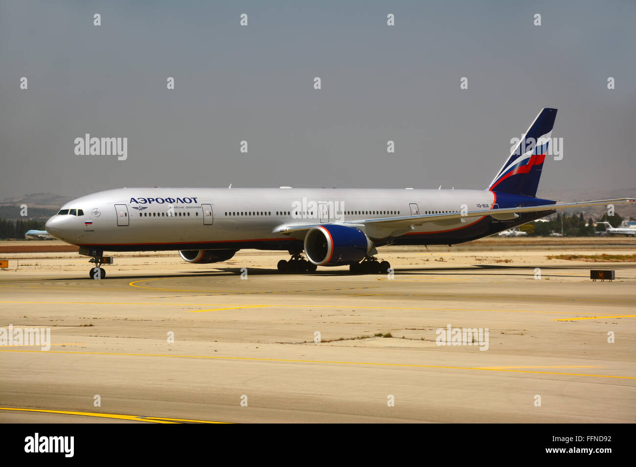 Aeroflot Russian airplane, Boeing 777-300 - Stock Image