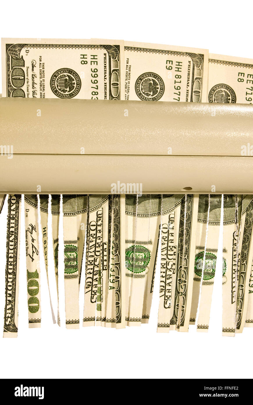 Money Being Shredded - Stock Image