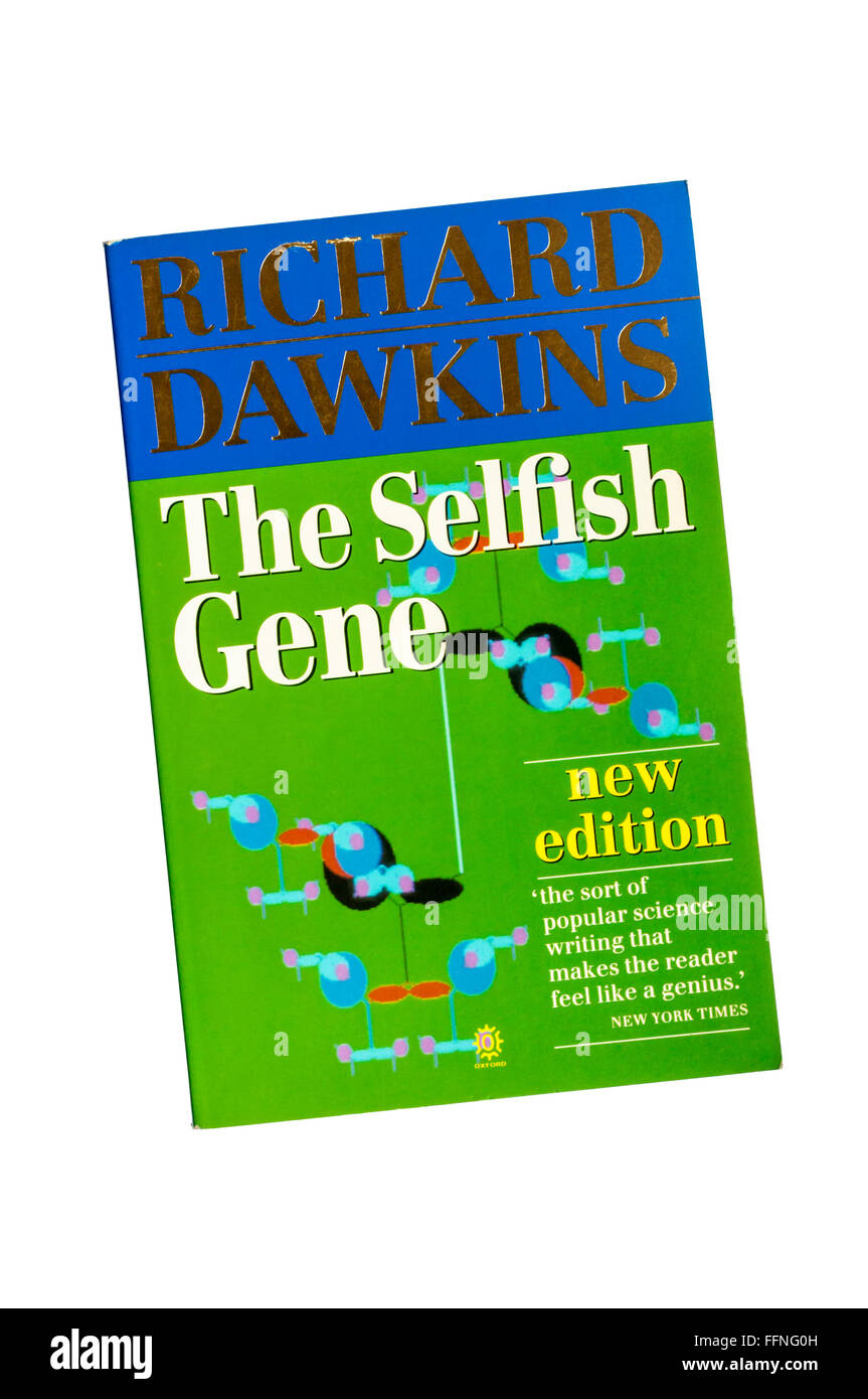The Selfish Gene by Richard Dawkins, in which he originated the term meme. - Stock Image