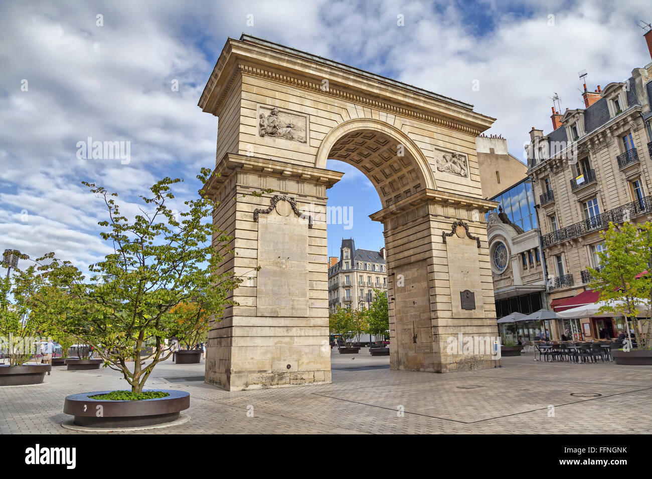 Guillaume gate on Darcy square in Dijon, Burgundy, France Stock Photo