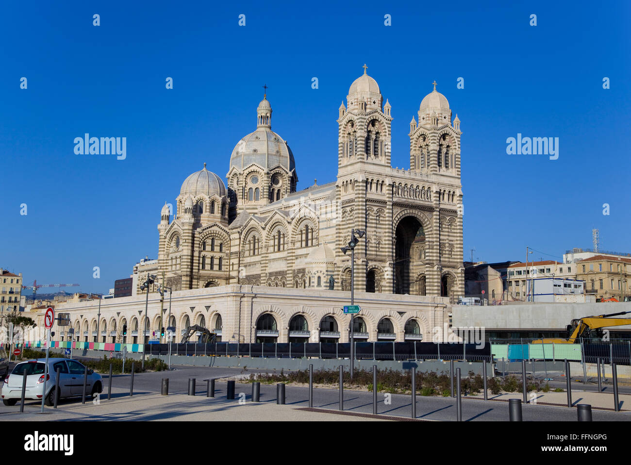 Marseille Cathedral, Marseilles, France, Provence - Stock Image