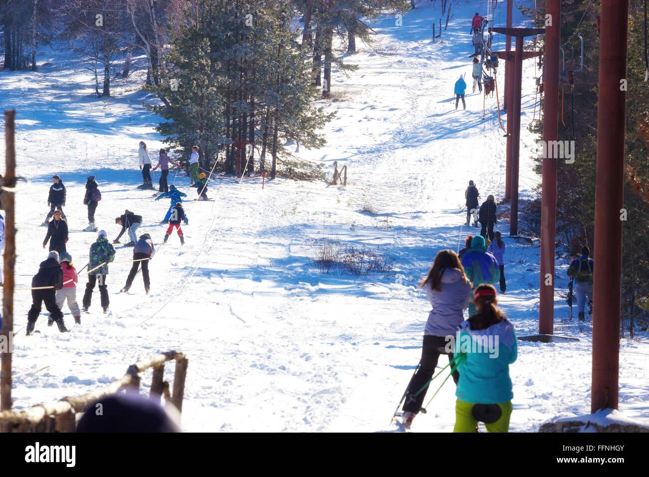 Season of winter sports - Stock Image