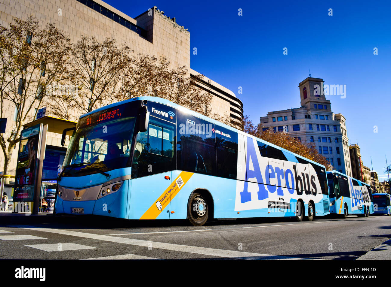 Aerobus. Barcelona, Catalonia, Spain. Stock Photo
