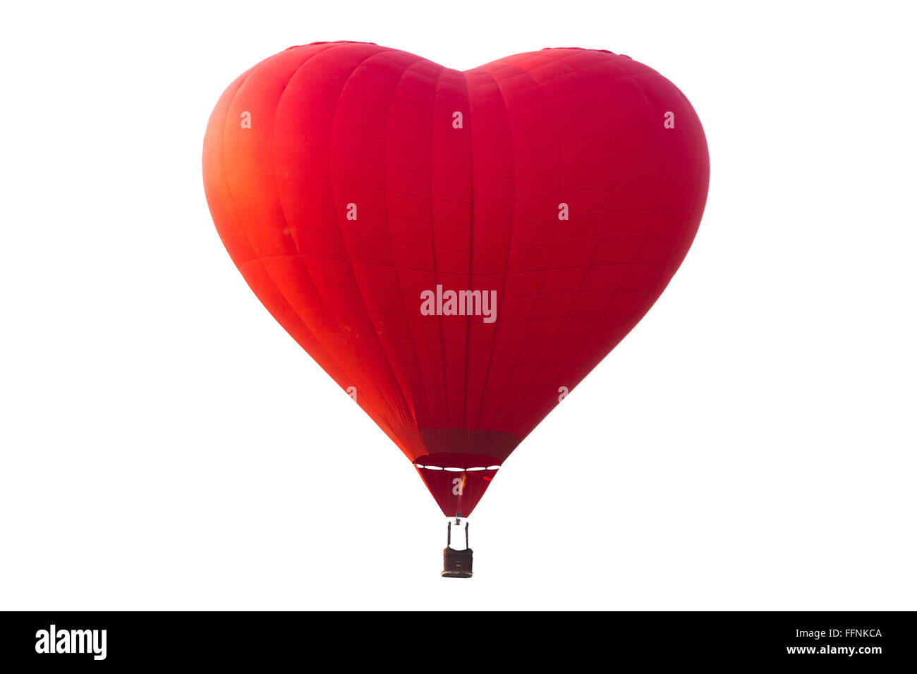 hot air balloon isolated on white with clipping path - Stock Image