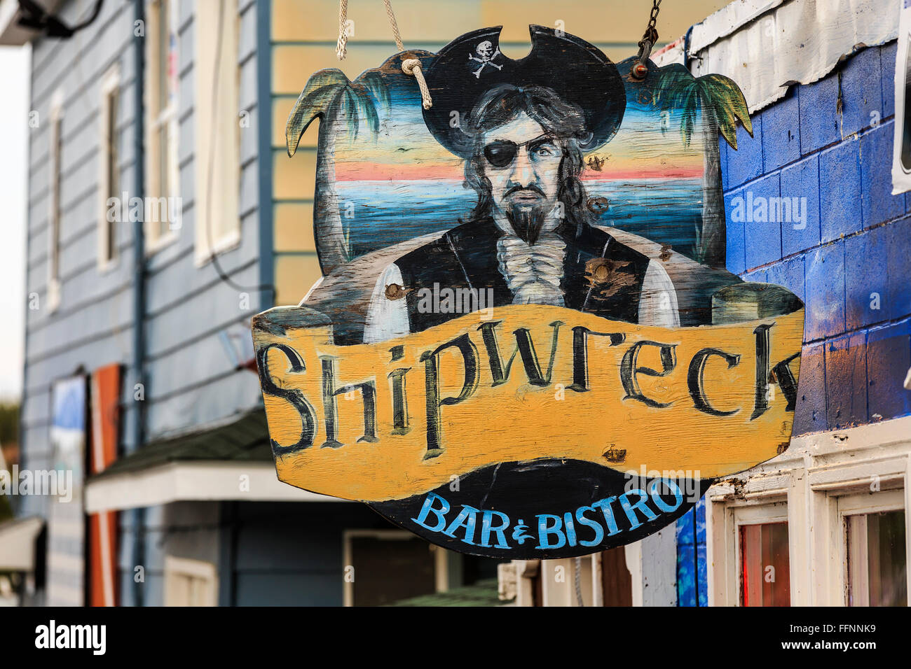 Bar and Bistro sign, Tobermory, Ontario, Canada. - Stock Image