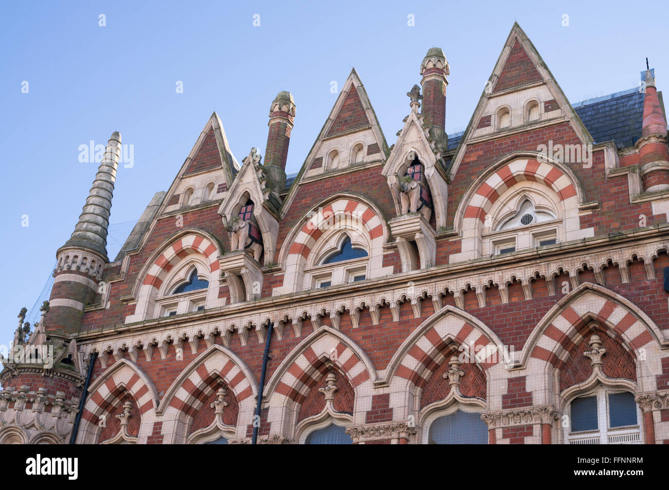 Hindu or Venetian Gothic architecture of the ex Elephant Tearooms in Sunderland North East  England, UK Stock Photo