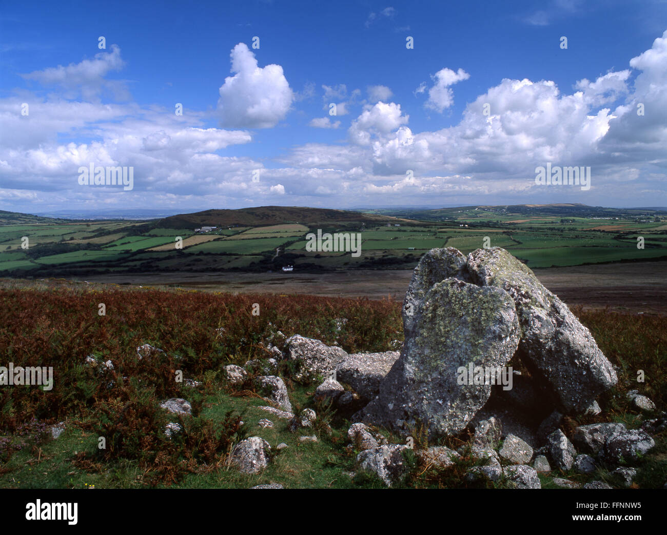 Sweyne's Howes Neolithic burial chamber Rhossili Down Gower Peninsula South Wales UK - Stock Image