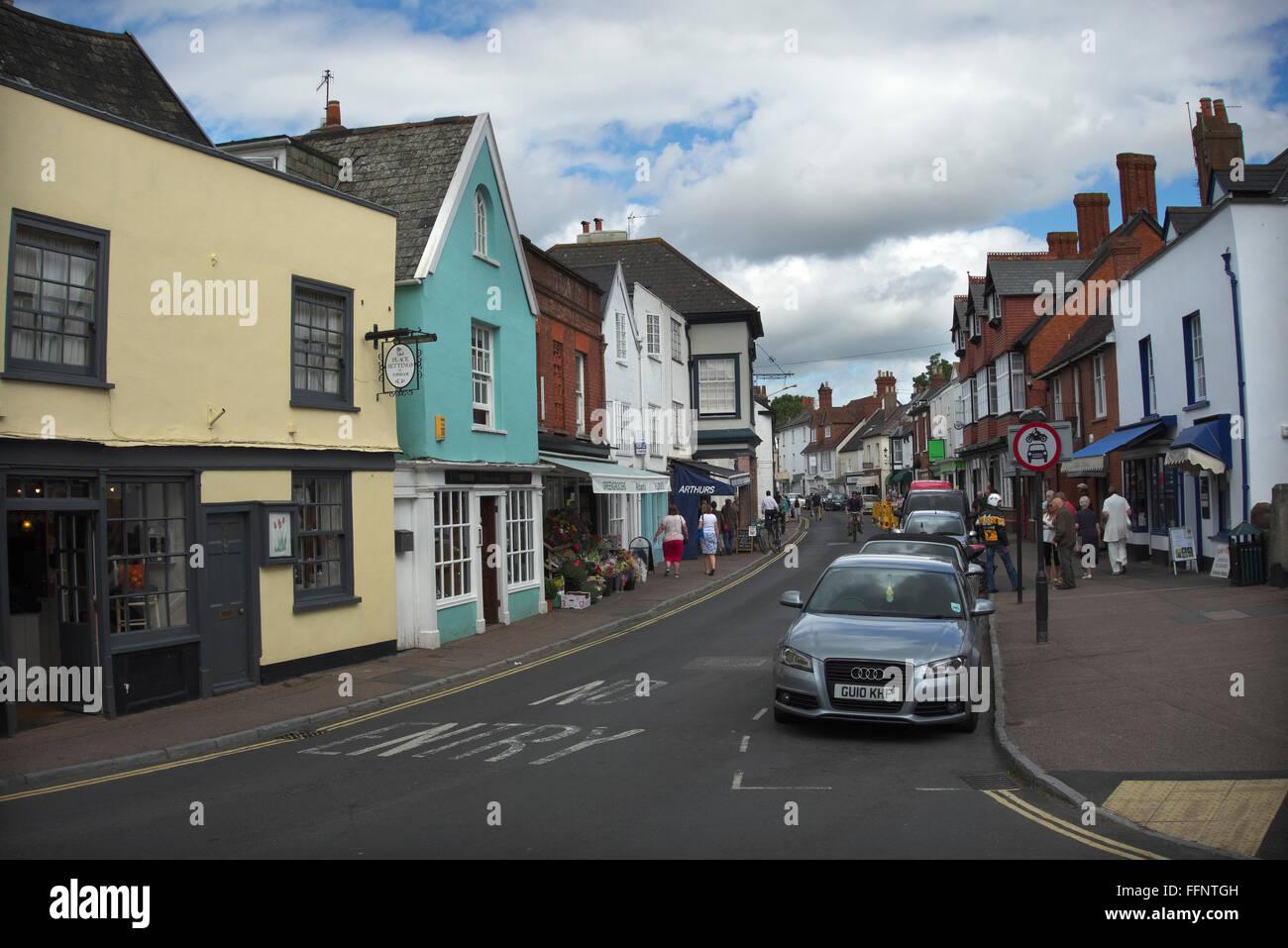 Fore St, Topsham, Devon UK - Stock Image