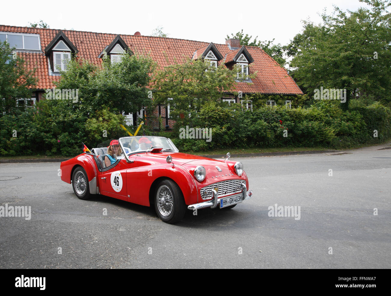 Oldtimer-Rallye, Landkreis Lueneburg, Lower Saxony, Germany, Europe Stock Photo