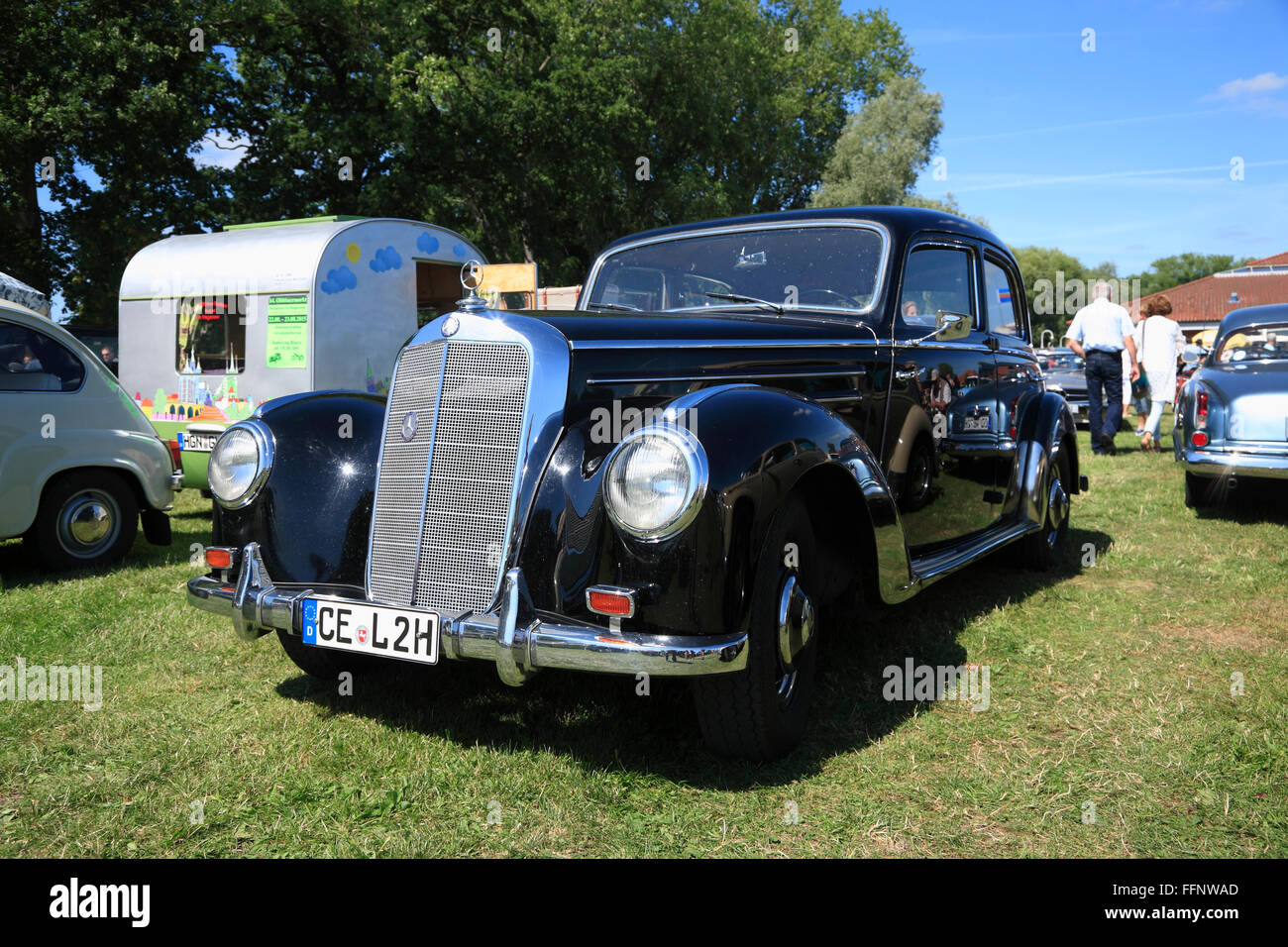 Mercedes, Oldtimer meeting, Bleckede / Elbe, Lower Saxony, Germany, Europe Stock Photo