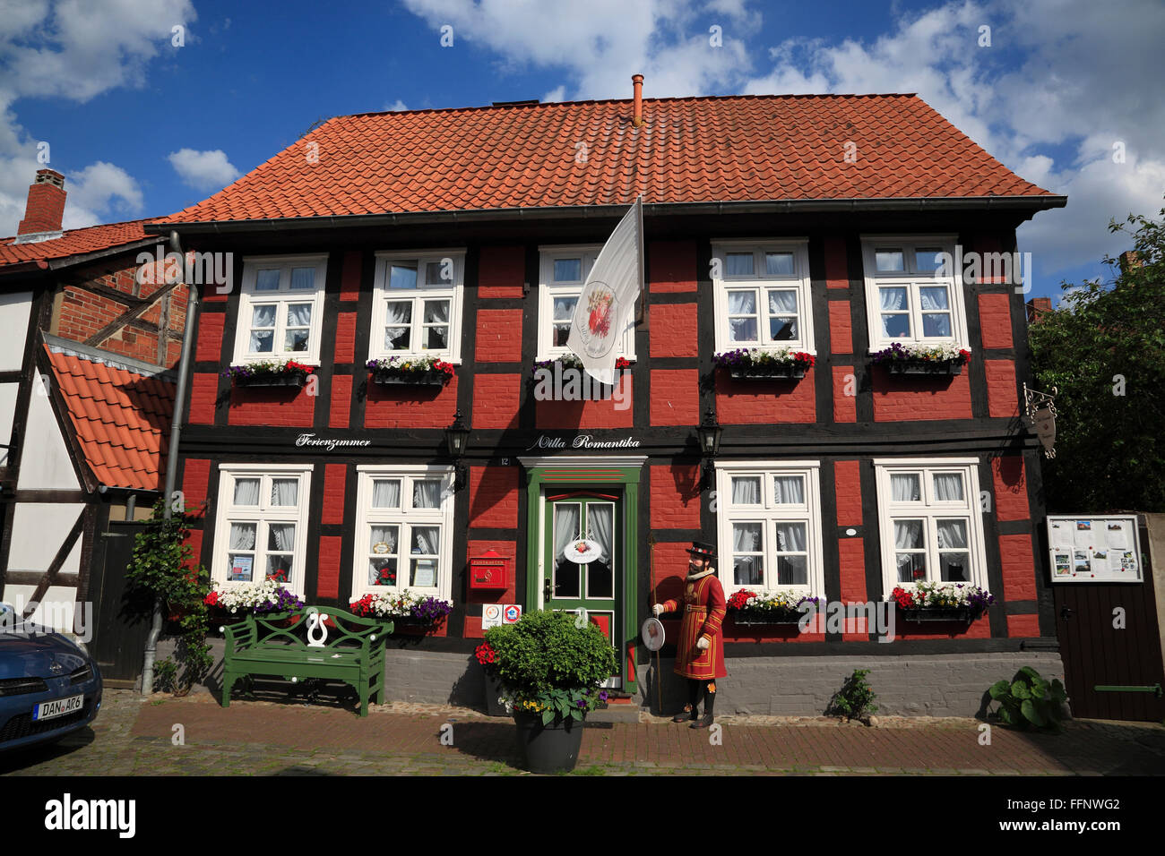 Pension Villa Romantica, Bett and Bike, Hitzacker Elbe, Lower Saxony, Germany, Europe - Stock Image
