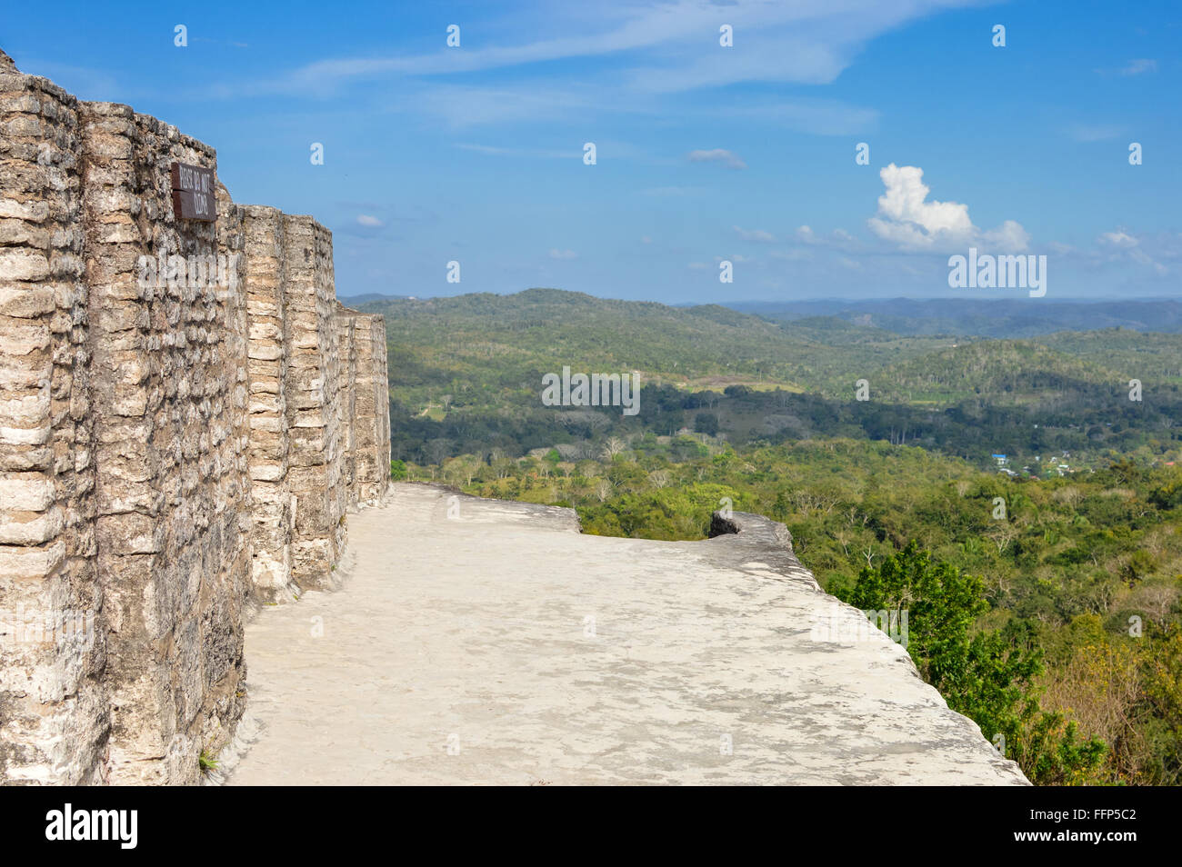 Xunantunich archaeological site of Maya civilization with some landscapes view, Cayo District, Belize - Stock Image