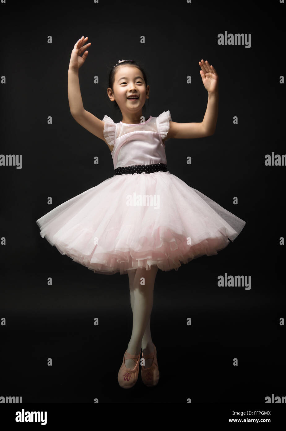 asian little girl ballerina stock photo 95767754 alamy