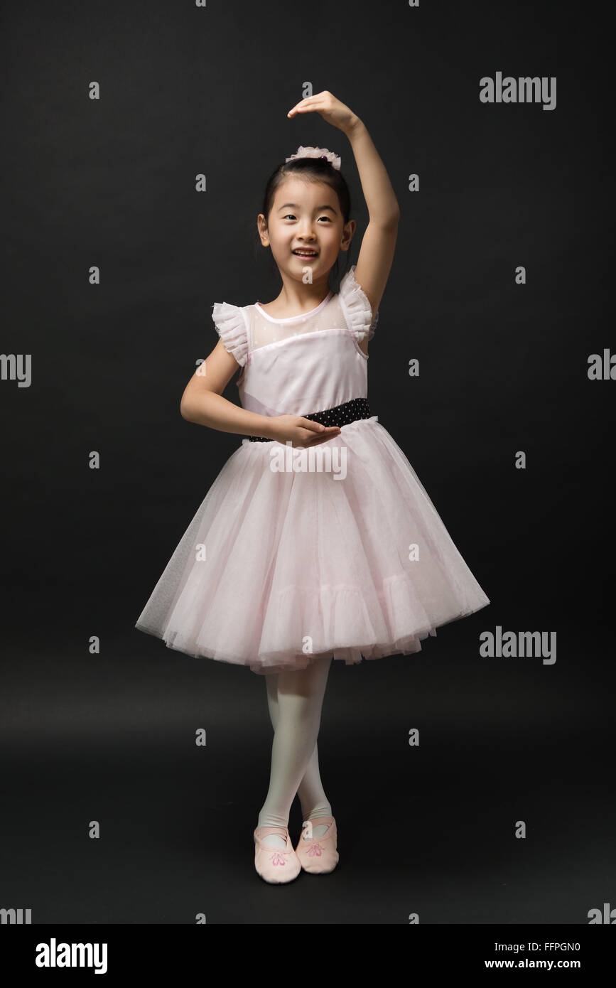 asian little girl ballerina stock photo 95767756 alamy