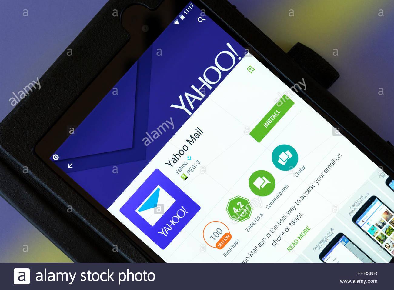 yahoo mail uk mobile
