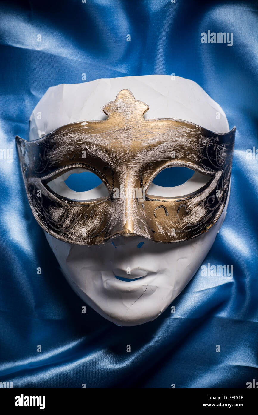Mask covered with a mask - Stock Image