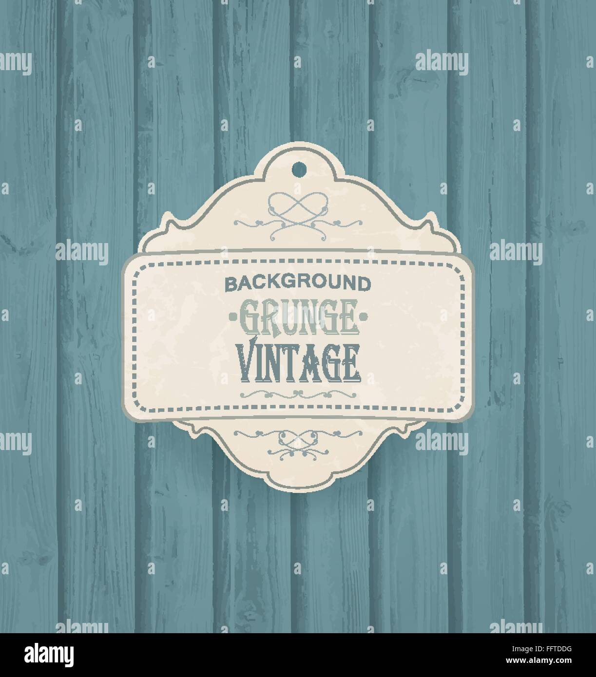 Wooden Background With Vintage Frame - Stock Image