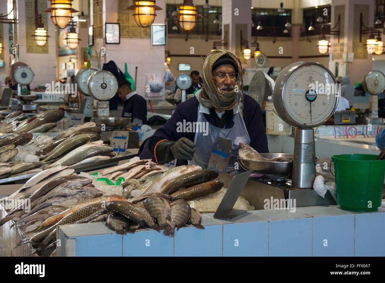 Kuwait fish market - Stock Image