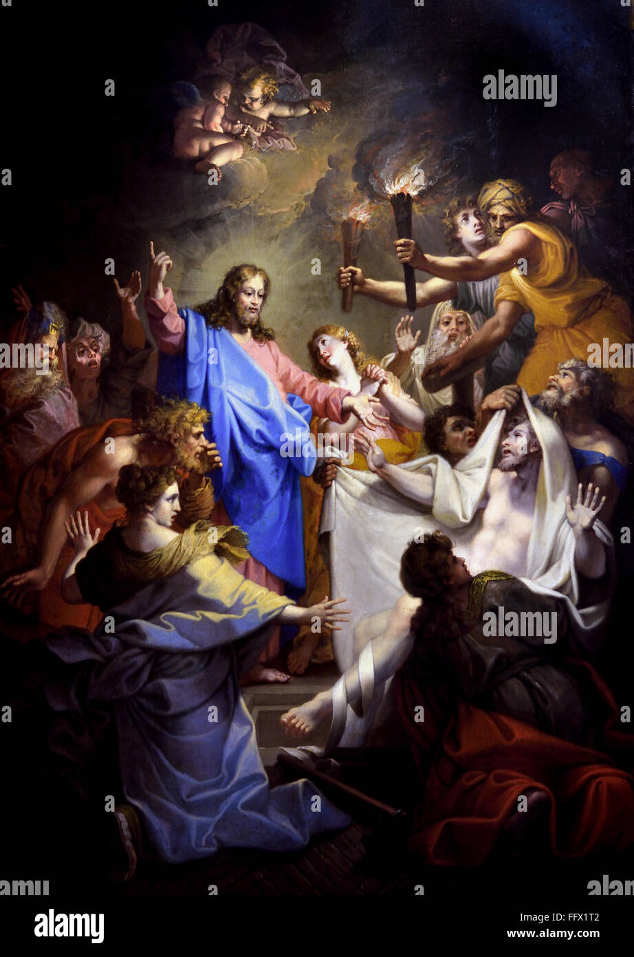 The Miracles of St. Paul at Ephesus John I Restout. 1663 1702   France French - Stock Image